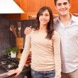 Happy Young Couple in the Kitchen — ストック写真 #8797886