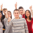 Happy Multiracial Group with Thumbs Up — Stock Photo #8797910