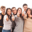 Happy Multiracial Group with Thumbs Up — Stock Photo #8976965