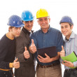 Engineers or Architects with Helmet on White Background — Stock Photo #8976975