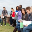 Group of Multiracial College Students — Stock Photo