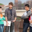 Group of Multiracial College Students — Stock Photo #9090808