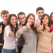 Happy Multiracial Group with Thumbs Up — Stock Photo #9346601