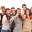 Happy Multiracial Group with Thumbs Up — Stock Photo