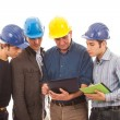 Stock Photo: Engineers or Architects with Helmet on White Background