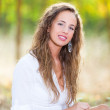 Young Woman in Relax Outside — Stock Photo