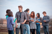 Group of Multicultural College Students — Stock Photo