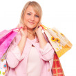 Beautiful Girl with Shopping Bags - Stok fotoraf