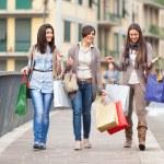Three Beautiful Young Women doing Shopping — Stock Photo #9765483