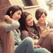 Group of Women Sending Message with Mobile Phone — Stock Photo #9782291