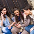 Group of Women Talking on Mobile Phone — Stock Photo #9916082