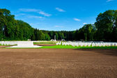Militära kyrkogård — Stockfoto