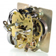 The mechanism of an old alarm clock — Stock fotografie