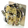 The mechanism of an old alarm clock — Foto de Stock
