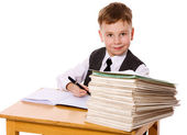 Kid studying — Stock Photo