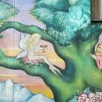 Graffiti in Christiania — Stock Photo