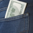 Money in a pocket - Lizenzfreies Foto