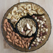 Nuts plate — Stock Photo