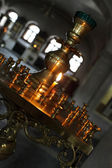 Candle in the church — Stock Photo