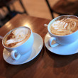 Two cups of cappuccino - Stockfoto