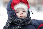 Portrait of baby in winter — Stock Photo