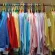 Clothes at store — Stock Photo