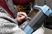 Reflectometer of fibre optic — Stock Photo