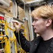 Network engineer at FOCL site — Stock Photo