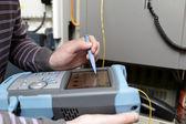 Adjusting of telecom network — Stock Photo