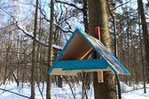 деревянные birdfeeder — Стоковое фото