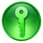 Key icon green, isolated on white background — Stock Photo