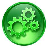 Werkzeuge-symbol grün, isoliert auf weißem hintergrund — Stockfoto