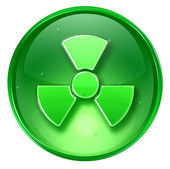 Radioactive icon green, isolated on white background. — Stock Photo