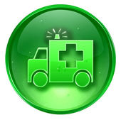 First aid icon green, isolated on white background. — Stock Photo