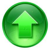 Pijl-omhoog of pictogram groen, geïsoleerd op witte achtergrond. — Stockfoto