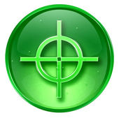 Target icon green, isolated on white background. — Stock Photo