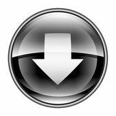 Descargar icono negro, aislado sobre fondo blanco. — Foto de Stock