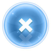 Multiplication sign icon ice, isolated on white background — 图库照片