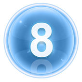 Number eight icon ice, isolated on white background — Stock Photo