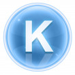 Ice font icon. Letter K, isolated on white background — Foto de Stock