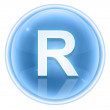 Ice font icon. Letter R, isolated on white background — Photo