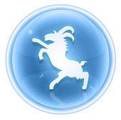 Goat Zodiac icon ice, isolated on white background. — Stock Photo