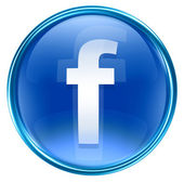 Blu sull'icona di facebook, isolato su sfondo bianco — Foto Stock