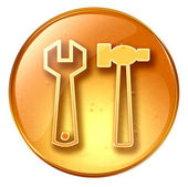 Tools icon yellow, isolated on yellow — Stock Photo