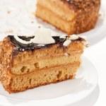 Chocolate cake with coffee — Stock Photo #8687422