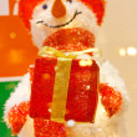 Funny snowman — Stock Photo #8694753
