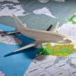 Постер, плакат: Airliner with a maps