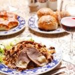 Uzbek national dish - plov with horse meat — Stock Photo #8698815