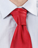 Businessman with red tie — Stock Photo
