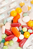 Different kinds of pills — Stockfoto